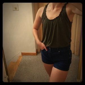 Lucky Brand Ruched Tank Top